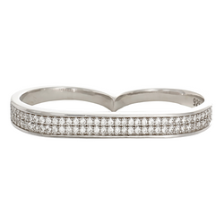 Ella White Sterling Silver Ring