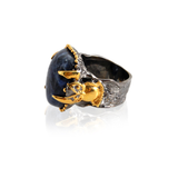Handmade Sterling Silver Ring With Sodalite Stone