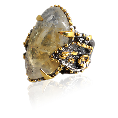 Handmade Sterling Silver Ring With Citrine