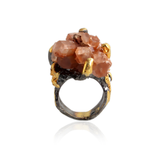 Handmade Sterling Silver Ring With Aragonite Stone