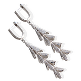 Ella White Sterling Silver Earring