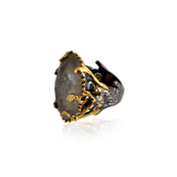 Handmade Sterling Silver Ring With Rutile Stone