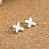 Ella Trendy Simple White  Sterling Silver Stud Earrings