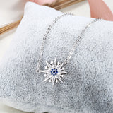 Ella Star Flower Sterling Silver Micro Setting  Necklace