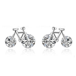 Ella chic white sterling silver stud earrings