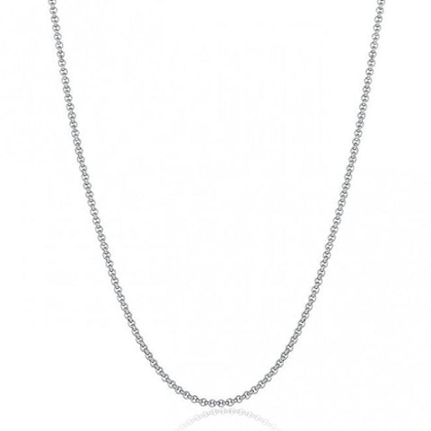 Stylish cable silver chain in sterling silver - Yellow