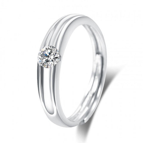 Timeless  adjustable  promise ring in sterling silver- Women