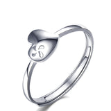 Ella Heart Windmill Hollow Sterling Silver Adjustable Ring