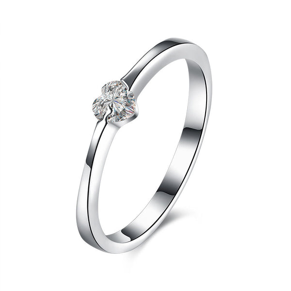 Ella Heart CZ Sterling Silver Ring