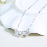 Ella Love Hearts White Sterling Silver Necklace