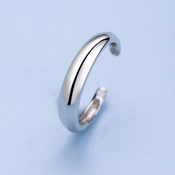 Ella classic adjustable ring in sterling silver