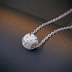 Ella Elegant Round Ball  Sterling Silver Necklace
