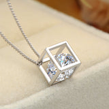Ella Happy Cube White Sterling Silver Magic  Necklace