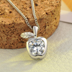 Ella Little Apple White CZ Sterling Silver Necklace