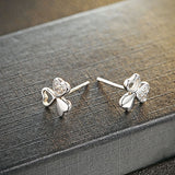 Ella Three Leaf Clover Sterling Silver Stud Earrings