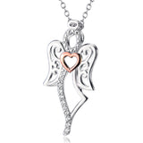 Ella White Angel Sterling Silver Lucky Necklace