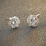 Ella Winter Snowflake Sterling Silver Stud Earrings