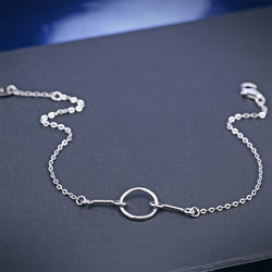 Ella simple white sterling silver circle knot bracelet