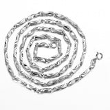 Stylish fashion chain in sterling silver