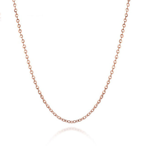 Stylish cable silver chain in sterling silver - Rose