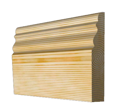 Timber Skirting Board 117mm x 21mm SB011 - PlasterCeilingRoses.com