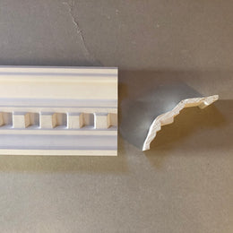 Dentil Plaster Cornice 120MM Drop MPC075 - PlasterCeilingRoses.com