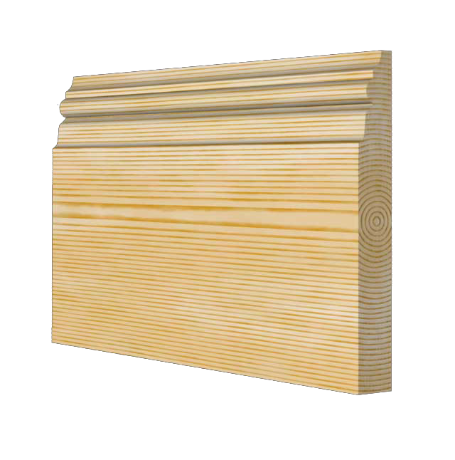 Medium Victorian Timber Skirting Board 168mm x 21mm SB008 - PlasterCeilingRoses.com