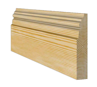 Medium Victorian Timber Skirting Board 117mm x 21mm SB007 - PlasterCeilingRoses.com
