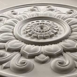 Large Floral Plaster Ceiling Rose Diameter 830MM LPR073 - PlasterCeilingRoses.com