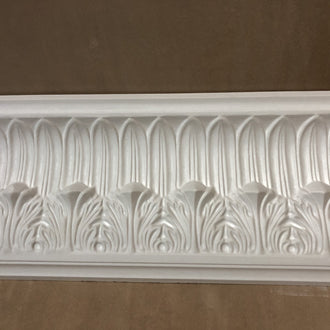 Acanthus and Plain Leaf Plaster Coving Drop 122MM MPC074 - PlasterCeilingRoses.com