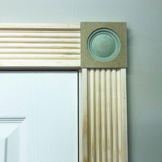 Victorian Timber Architrave Fluted 91mm x 20mm ARC005 - PlasterCeilingRoses.com