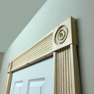 Victorian Timber Corner Block 95mm x 95mm x20mm BLK005 - PlasterCeilingRoses.com