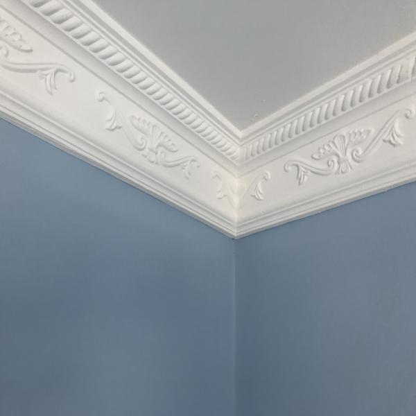 Plaster Coving Decorated 115mm Drop LPC008 - PlasterCeilingRoses.com