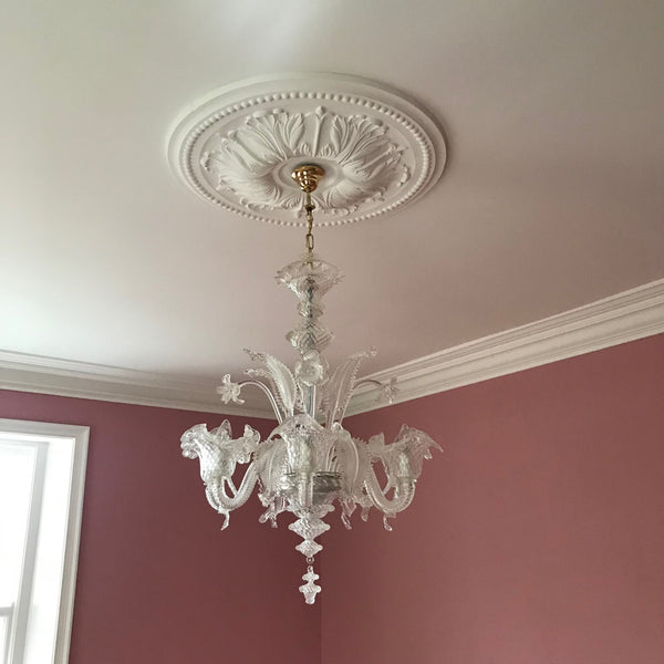 Ornate Floral Plaster Ceiling Rose 770mm dia. LPR060 - PlasterCeilingRoses.com