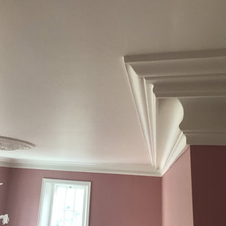 Large Plaster Coving Victorian Swan Neck Drop 170mm LPC017 - PlasterCeilingRoses.com