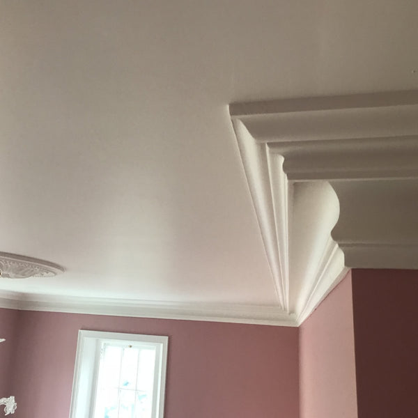 Large Plaster Coving Victorian Swan Neck Drop 145mm LPC017 - PlasterCeilingRoses.com