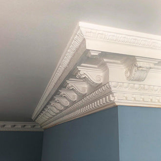 Plaster Coving Victorian Entrance Hall 175mm Drop LPC019 - PlasterCeilingRoses.com