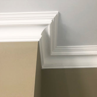 Swan Neck Plaster Coving 125mm LPC030 - PlasterCeilingRoses.com