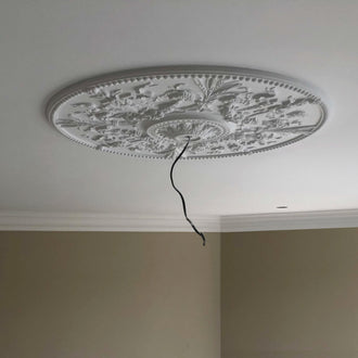 Large Plaster Ceiling Rose with Swags Diameter 840MM LPR072 - PlasterCeilingRoses.com
