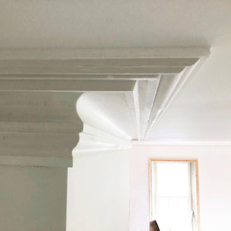 London Swan Neck Coving 150MM, LPC073 - PlasterCeilingRoses.com