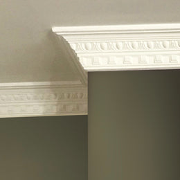 Plaster Coving Dentil Egg & Dart 90mm Drop MPC019 - PlasterCeilingRoses.com