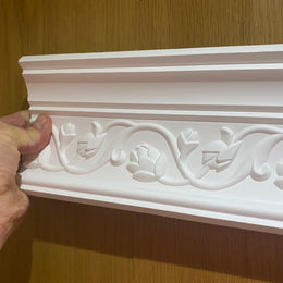 Plaster Coving Flowers 100mm Drop MPC030 - PlasterCeilingRoses.com