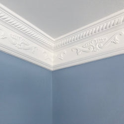 Plaster Coving Ornate Georgian 100mm Drop MPC031 - PlasterCeilingRoses.com