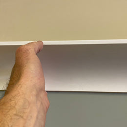 Plaster Coving Plain 75mm Drop MPC060 - PlasterCeilingRoses.com