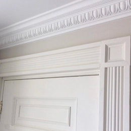 Plaster Coving Egg & Dart 100mm Drop MPC064 - PlasterCeilingRoses.com