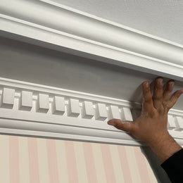 Large Dental Plaster Cornice Drop 165MM Projection 165MM LPC074 - PlasterCeilingRoses.com