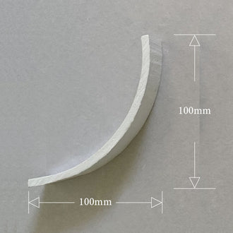 Plaster Coving Plain 100mm Drop MPC079 - PlasterCeilingRoses.com