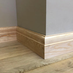 5 inch Classic Timber Skirting Board 117mm x 21mm SB001 - PlasterCeilingRoses.com