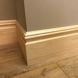 Nine Inch timber Skirting Board 215mm x 21mm SB009 - PlasterCeilingRoses.com