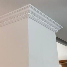 Plaster Coving Dentil 75mm Drop SPC015 - PlasterCeilingRoses.com